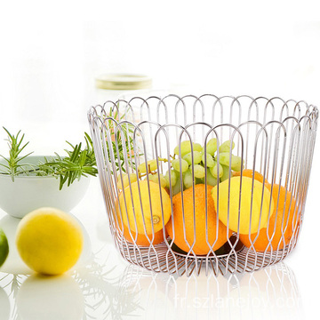 Kitchen home use dry fruit basket storage display decorative stainless steel fruit and vegetable basket